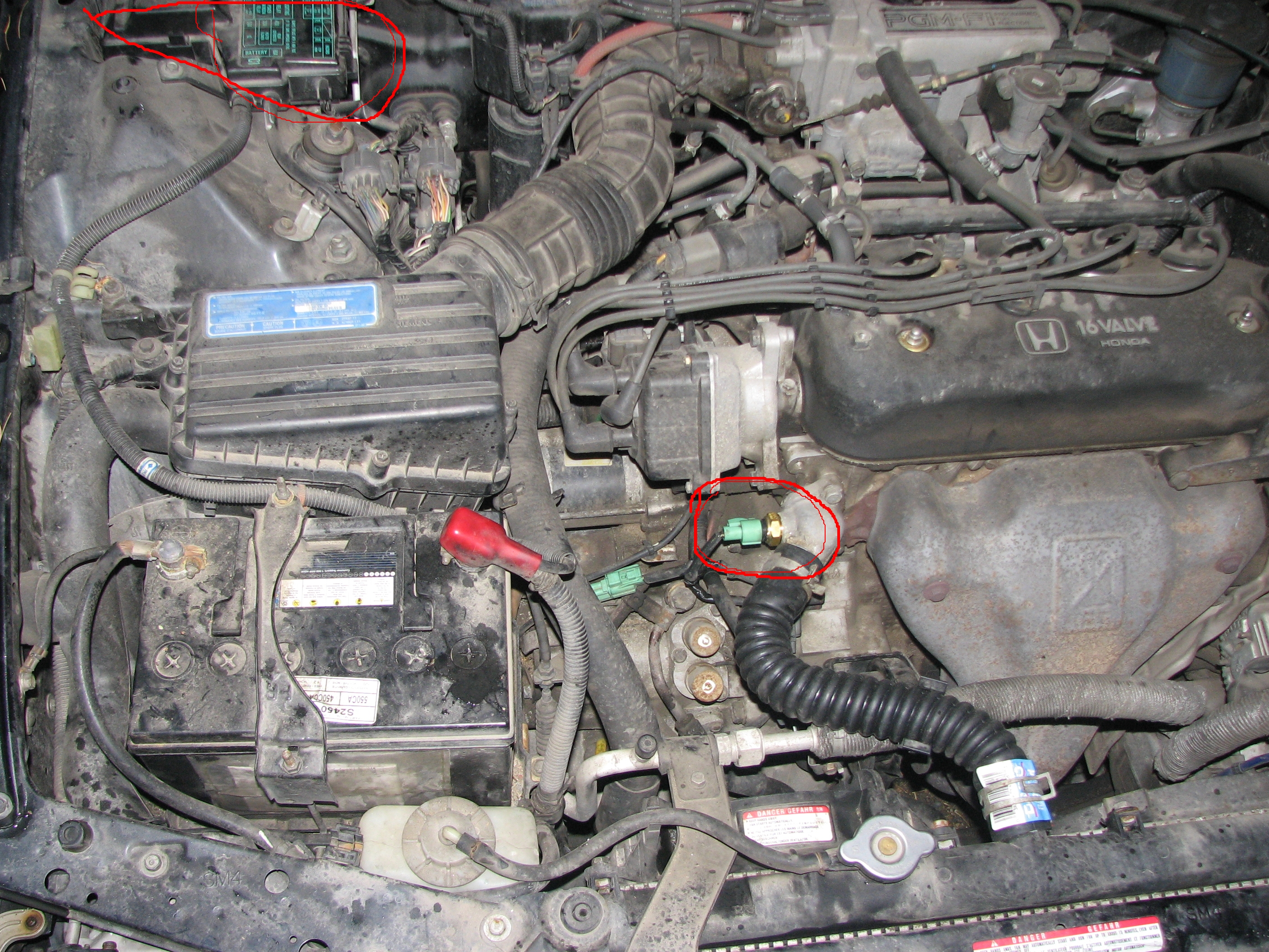 1992 Honda Accord – Fan won't turn off